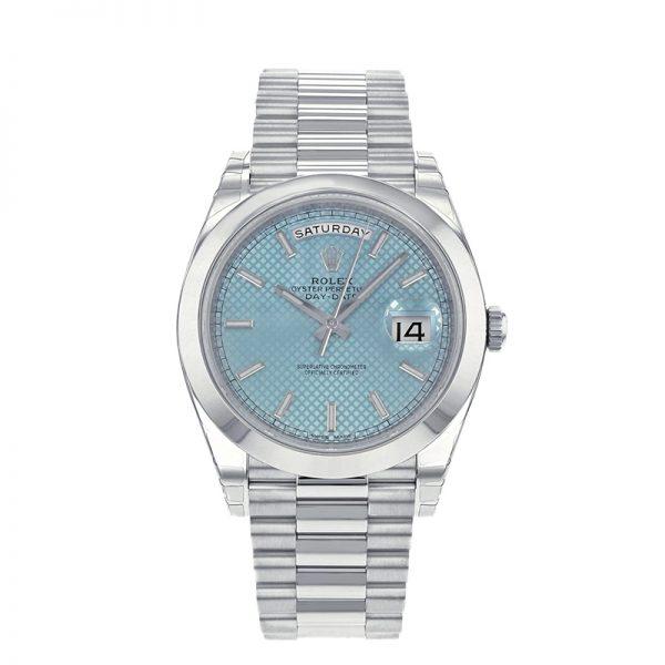 Rolex Day-Date 228206 Herrenuhr mit 40 mm blauem Zifferblatt