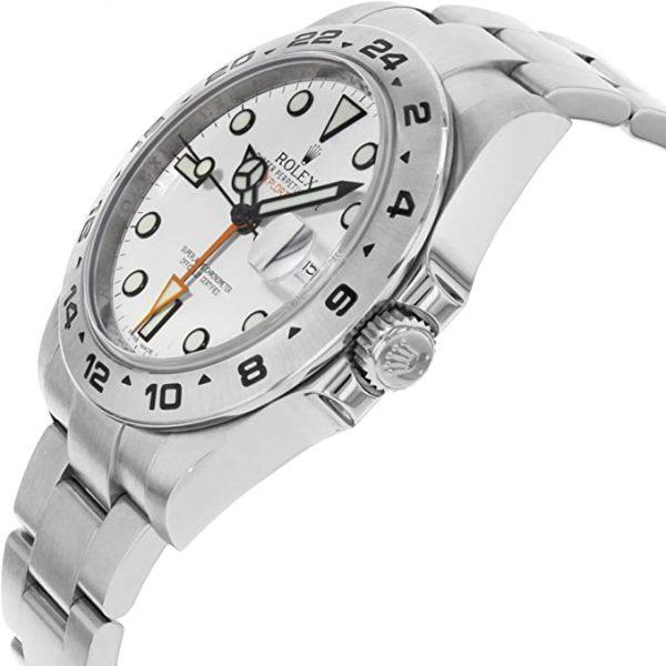 Rolex Explorer II 216570 Weißes Zifferblatt 42mm Runde Herrenuhr